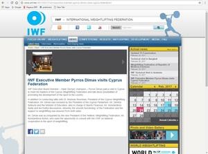 Ρεπορτάζ της IWF για την επίσκεψη Δήμα-Κορλού στην Κύπρο